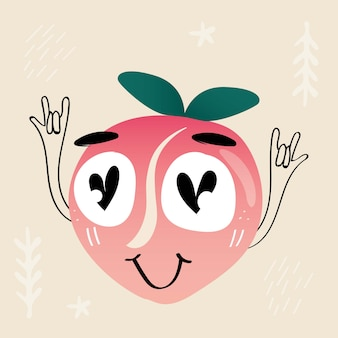 The peach lover man character