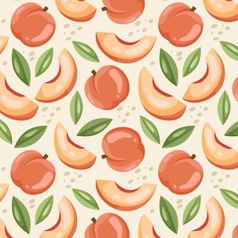桃柄のデザイン