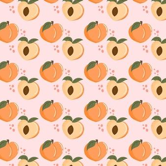 Дизайн персикового узора