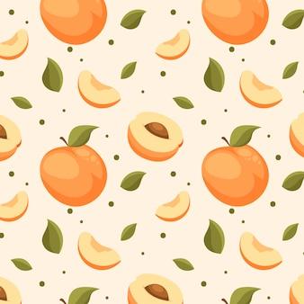 복숭아 패턴 디자인
