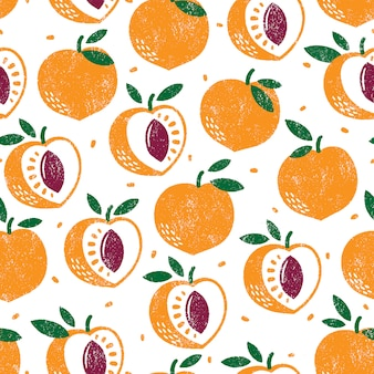 Peach pattern. seamless background.