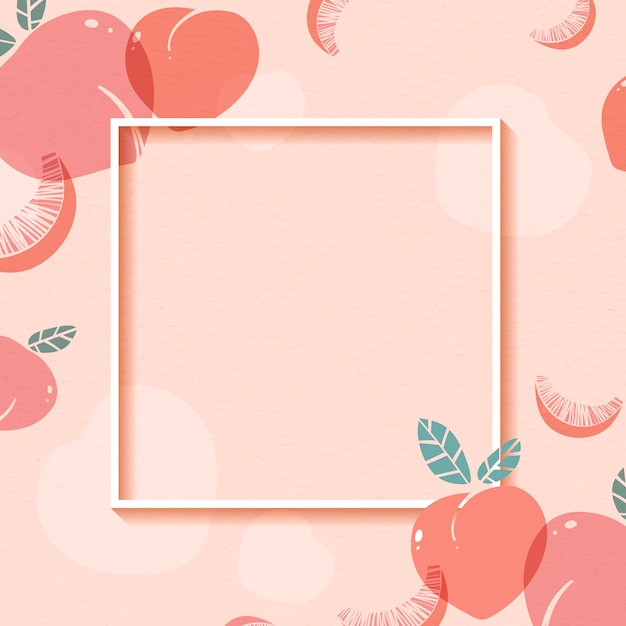 Peach patterned frame