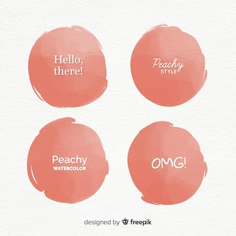 Peach watercolor splash collection