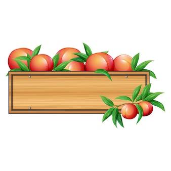 Дизайн персики коробка