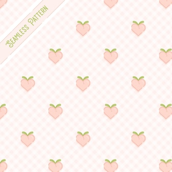 桃のシームレスパターン