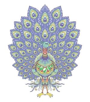 Peacock colorful mandala design