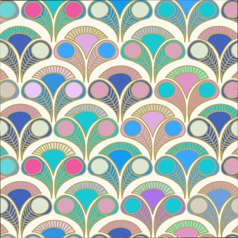 Peacock deco style pattern