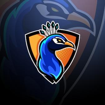 Peacock head logo esport