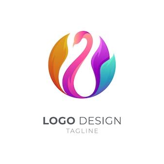 円形の孔雀ロゴ