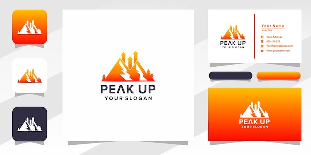 Peak up logo  and business card