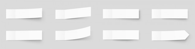 Pealistic sticky notes mockup, post stickers with shadows isolated on a grey background. paper sticky tape with shadow.   paper adhesive tape, rectangle empty office blanks