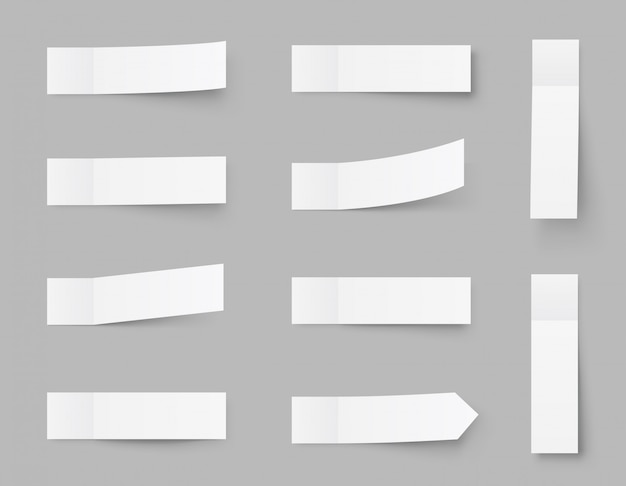 Pealistic sticky notes , post stickers with shadows isolated on a grey . paper sticky tape with shadow.  paper adhesive tape, rectangle empty office blanks   .