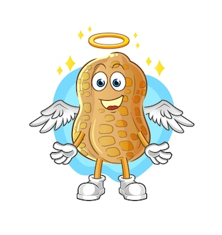 The peanut angel with wings  . cartoon character