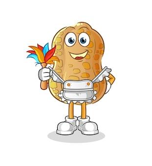 The peanut maid mascot. cartoon