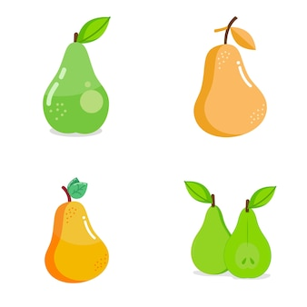 Pear fruit logo