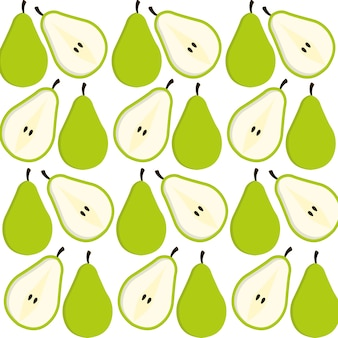 Pear fruits background design