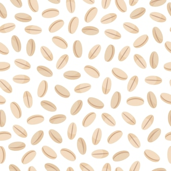 Pearl barley vector cartoon seamless pattern for template farmer market design, label and packing.
