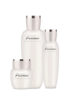 Pearl cosmetic packages for moisturizer, lotion and other.