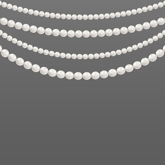 Pearl glamour beads, necklace patterns.