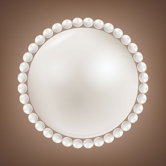 Pearl glamour beads