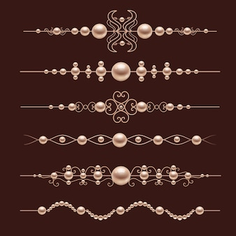 Pearl realistic dividers decoratives