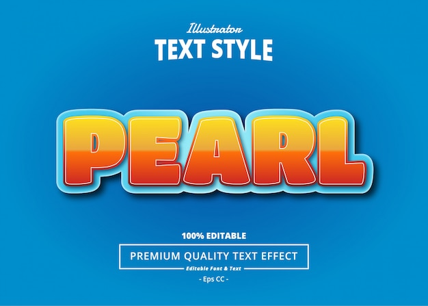 Pearl text effect