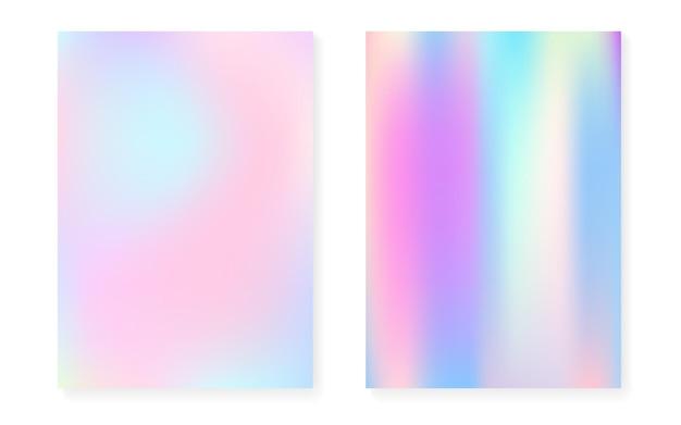 Перламутровый фон с голографическим градиентом.