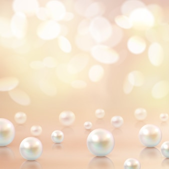 Pearls beads bokeh background