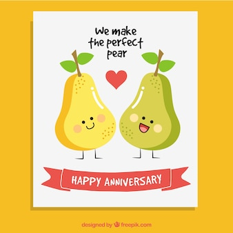 Pears anniversary card