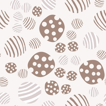 Pebble seamless pattern. abstract geometric dotted texture background. hand drawn stones wallpaper. vector illustration