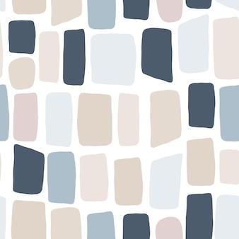 Бесшовный узор из гальки. текстура кирпичной стены. ручной обращается каменные обои. векторная иллюстрация