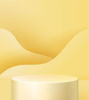 Pedestal on a yellow