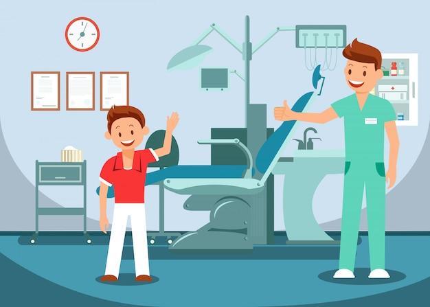 Pediatric dentistry Premium Vector