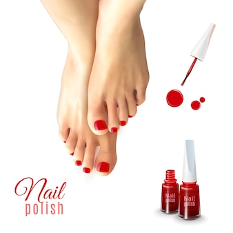 Pedicure nail polish