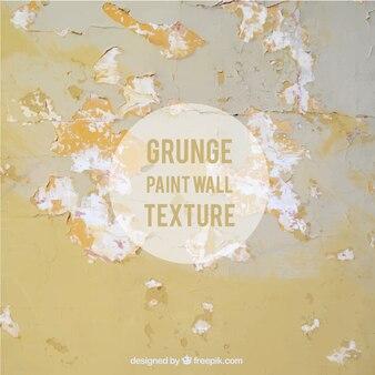 Пилинг окрашены в желтый цвет стены текстуры