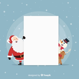 Peeping out characters blank sign background