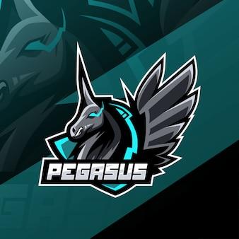 Pegasus mascot logo design
