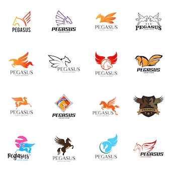 Набор логотипов pegasus