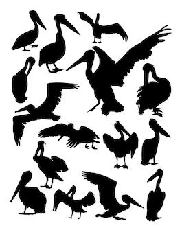 Pelican animal silhouette