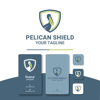 Pelican beak leaf logo design for animal rescuer