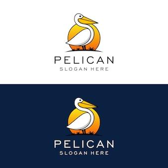 ペリカンのロゴのデザインテンプレート