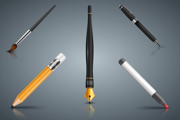 ペンなどの要素