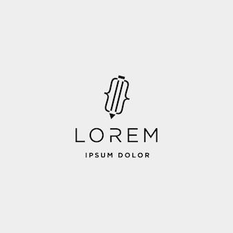 Ручка код логотипа дизайн вектор писатель кодирования значок символа
