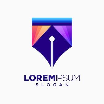 Pen colorful logo design