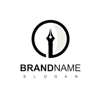 Pen logo design vector