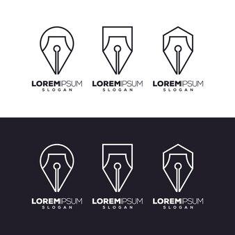 Pen set logo design