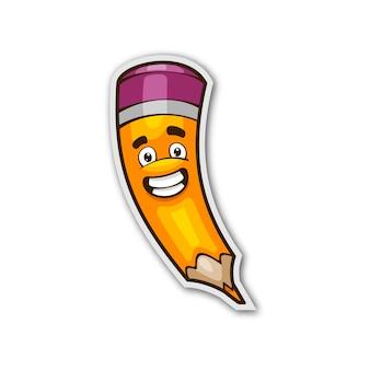 Pencil cartoon character