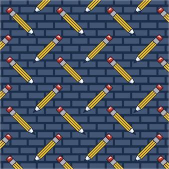 Pencil doodle pattern