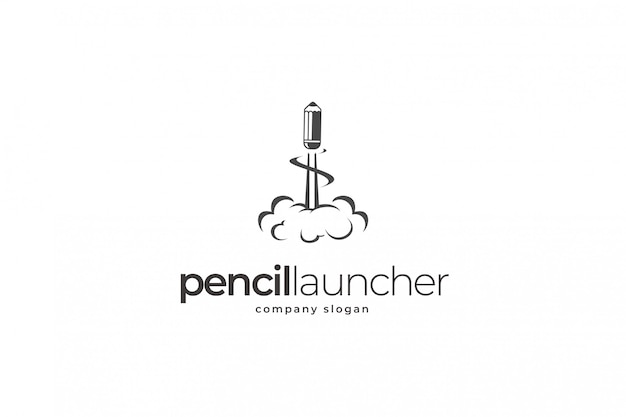 Pencil launcher logo template