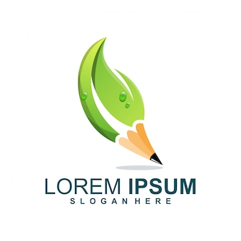 Pencil leaf logo